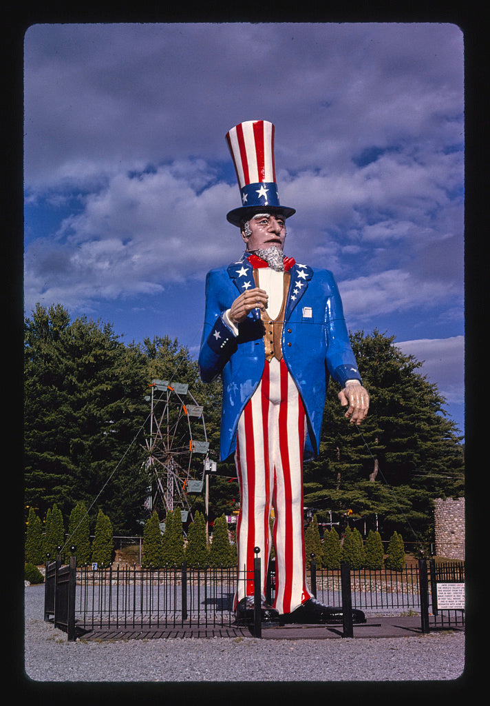 8 x 12 Photo of Uncle Sam, Magic Forest, Lake George, New York 1996 Margolies, John 56a