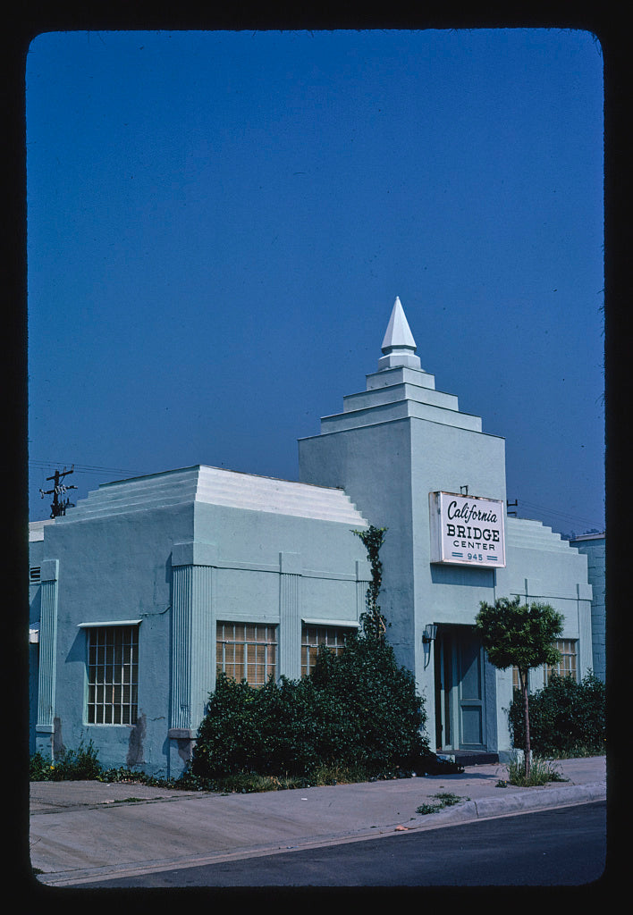 8 x 12 Photo of California Bridge Center, 945 North Fairfax, Los Angeles, California 1976 Margolies, John 27a