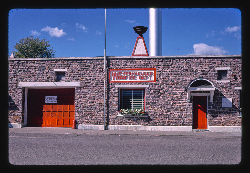 8 x 12 Photo of Fire Department (1938), detail, Main Street, Weyerhaeuser, Wisconsin 1988 Margolies, John 13a