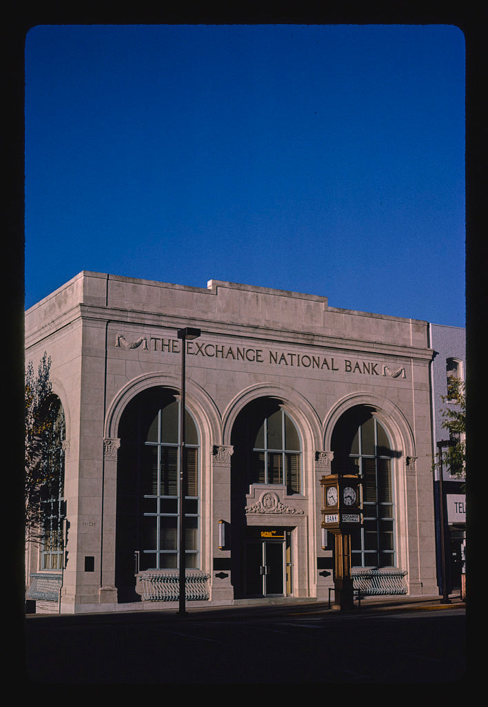 8 x 12 Photo of The Exchange National Bank, High Street, Jefferson City, Missouri 1988 Margolies, John 50a