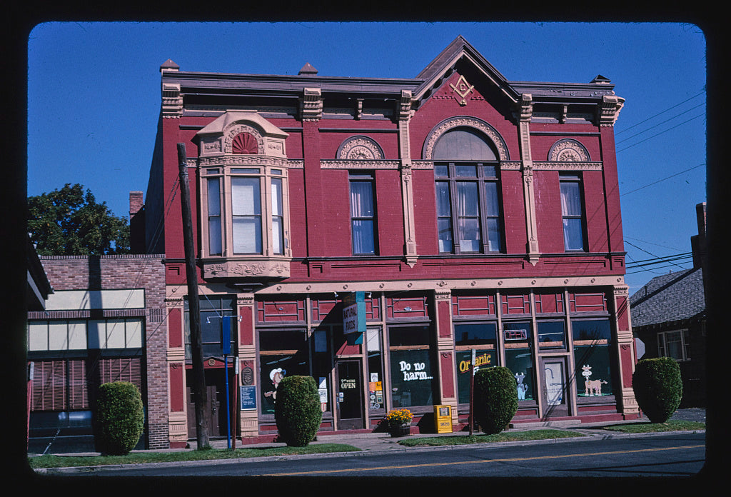8 x 12 Photo of  Masonic Temple, 6th Avenue, Ellensburg, Washington  2003 Margolies, John 01a