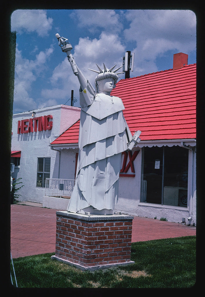 8 x 12 Photo of Federal Heating and Air Conditioning, Statue of Liberty, Federal Boulevard, Denver, Colorado 2004 Margolies, John 53a