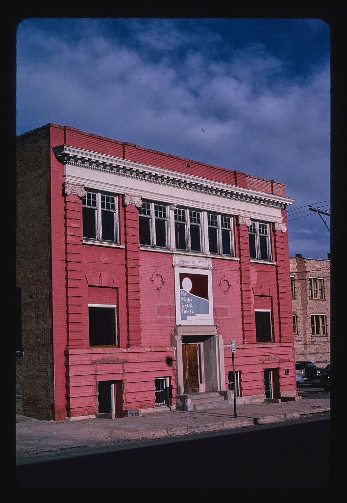 8 x 12 Photo of New Mexico Land and Title Building, Las Vegas, New Mexico 2003 Margolies, John 84a