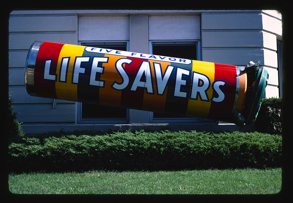 8 x 12 Photo of Lifesaver factory, Port Chester, New York 1982 Margolies, John 17a