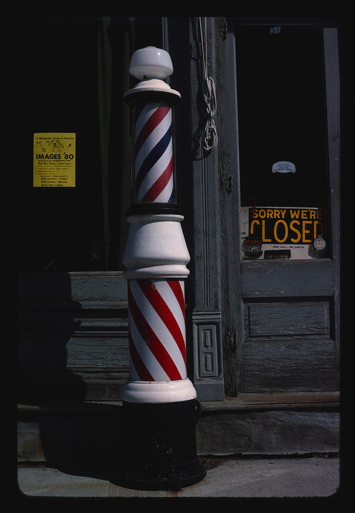 8 x 12 Photo of Barber pole, Canton, Illinois 1980 Margolies, John 11a