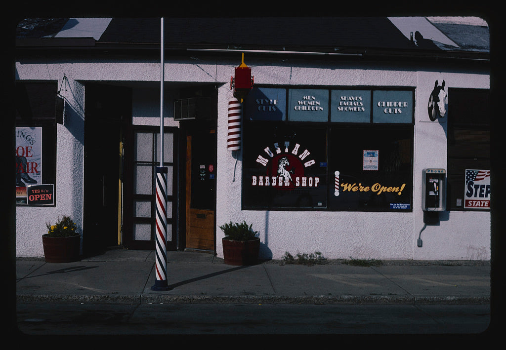 8 x 12 Photo of Mustang Barber Shop, Billings, Montana 2004 Margolies, John 19a