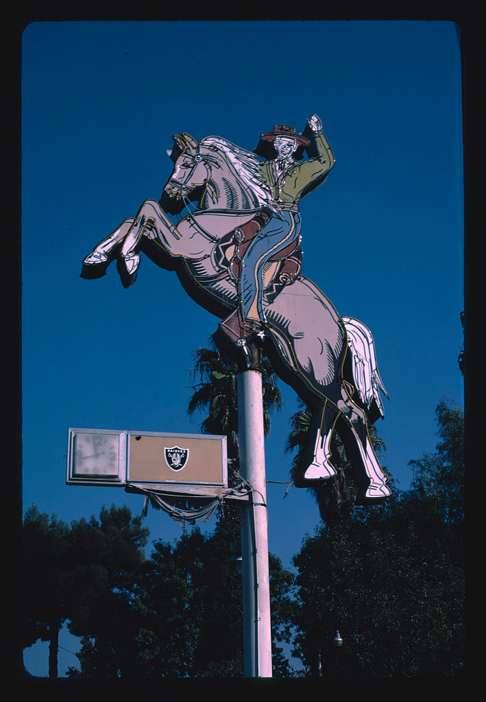 8 x 12 Photo of Mendes Park Western Wear sign, Fresno, California 1987 Margolies, John 86a