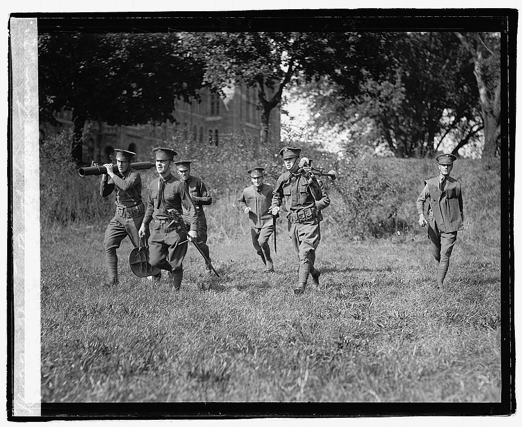 16 x 20 Reprinted Old Photo ofSham battle, Georgetown 1921 National Photo Co  13a