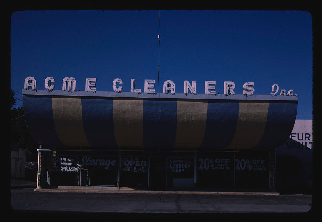 8 x 12 Photo of Acme Cleaners, Pueblo, Colorado 1980 Margolies, John 92a