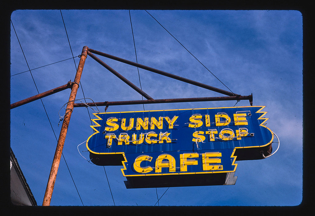 8 x 12 Photo of Sandy Side Truck Stop sign, Clarksville, Arkansas 1987 Margolies, John 90a