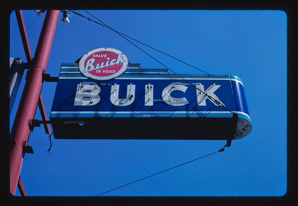 8 x 12 Photo of Buick sign, North East, Pennsylvania 1988 Margolies, John 31a