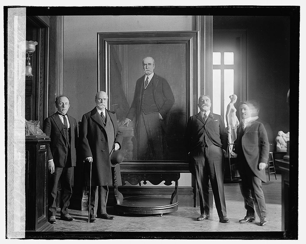 16 x 20 Reprinted Old Photo ofUnveiling of Hughes painting, 1/24/22 1922 National Photo Co  12a