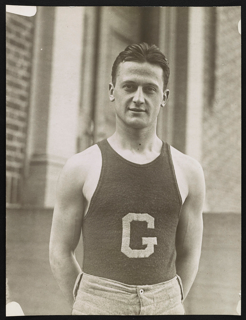 16 x 20 Reprinted Old Photo of [Andrew Zazzali, guard on the Georgetown University basketball team] 1921 National Photo Co  13a