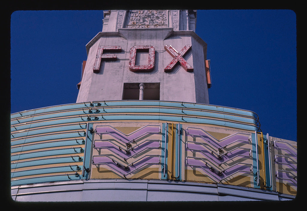 8 x 12 Photo of Fox Theater, Bakersfield, California 1987 Margolies, John 65a