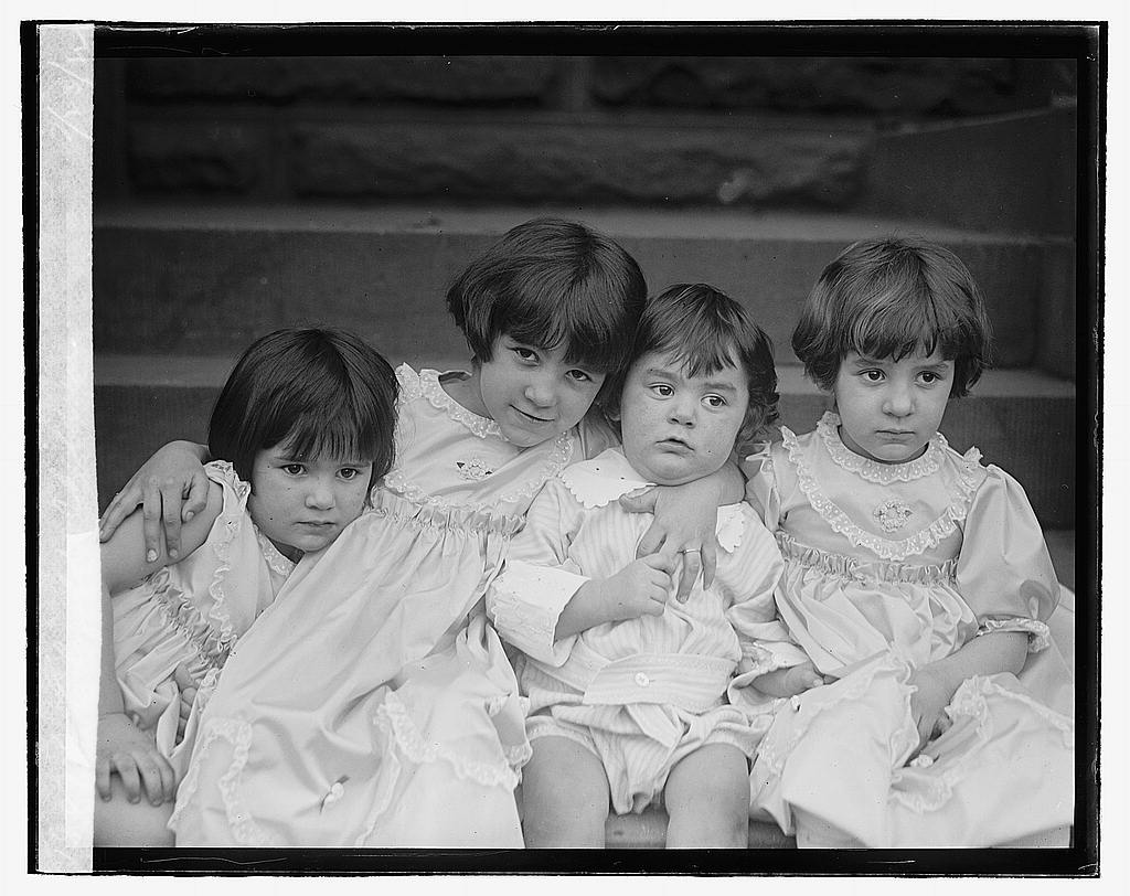16 x 20 Reprinted Old Photo ofElizalde children, 2/23/22 1922 National Photo Co  53a