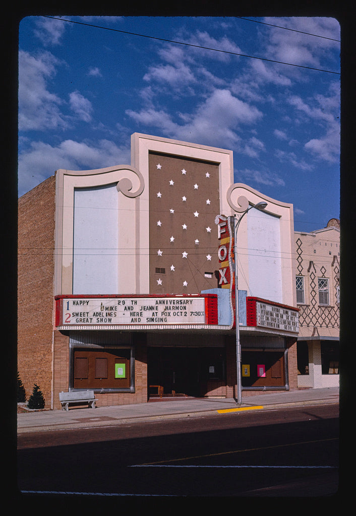 8 x 12 Photo of Fox Theater, McCook, Nebraska 1993 Margolies, John 85a