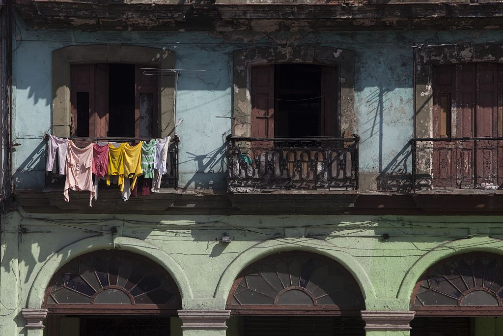 18 x 24 Photograph reprinted on fine art canvas  of Buildings on the Prado in front of the Capitol Havana Cuba r09 2010 [January] by Highsmith, Carol M.,