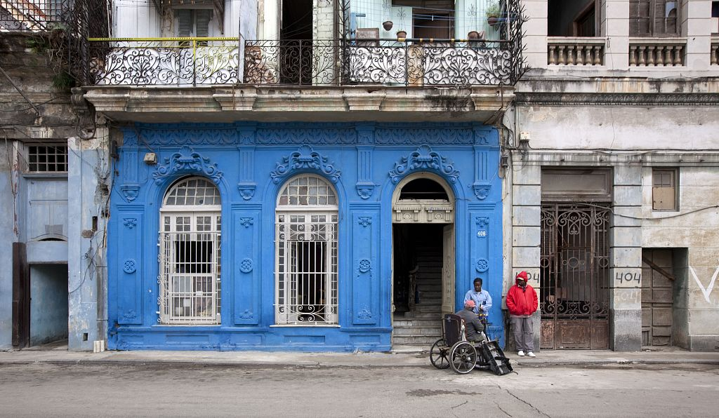 18 x 24 Photograph reprinted on fine art canvas  of Colorful building fa?ade in Old Havana Cuba r21 2010 January 9 by Highsmith, Carol M.,