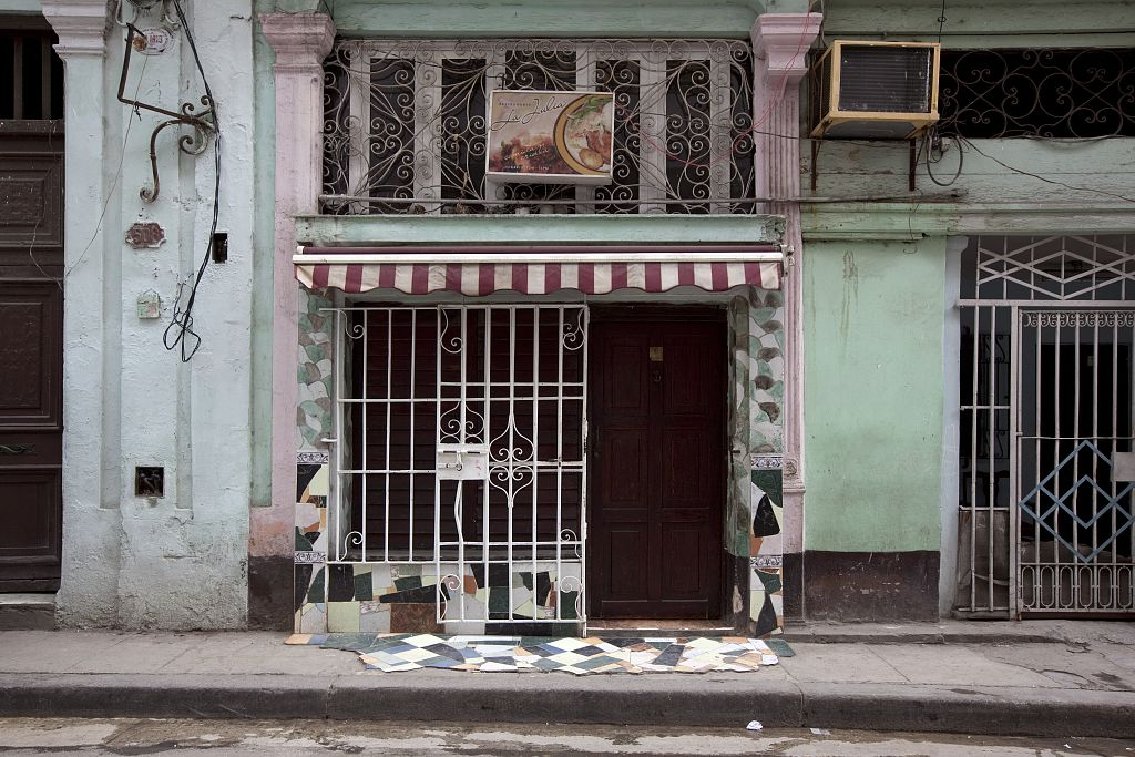 18 x 24 Photograph reprinted on fine art canvas  of A home based restaurant in Old Havana Cuba r34 2010 January 10 by Highsmith, Carol M.,