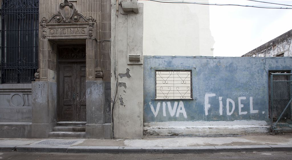 18 x 24 Photograph reprinted on fine art canvas  of A mural for Fidel in Old Havana Cuba r36 2010 January 10 by Highsmith, Carol M.,