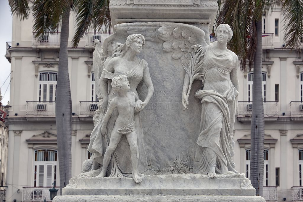 18 x 24 Photograph reprinted on fine art canvas  of Bas relief details around the statue of JosŽ Mart' located in the Parque Central Havana Cuba r83 2010 January 9 by Highsmith, Carol M.,