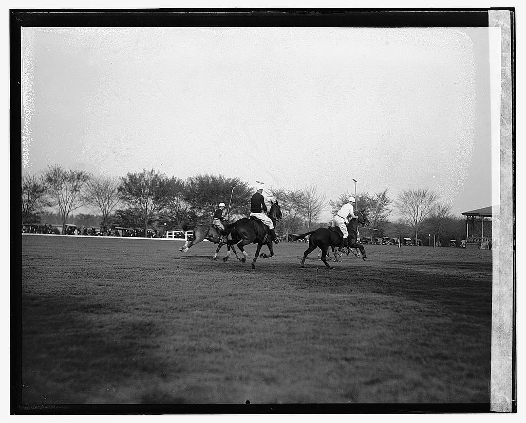16 x 20 Gallery Wrapped Frame Art Canvas Print of Polo 1922 National Photo Co  19a