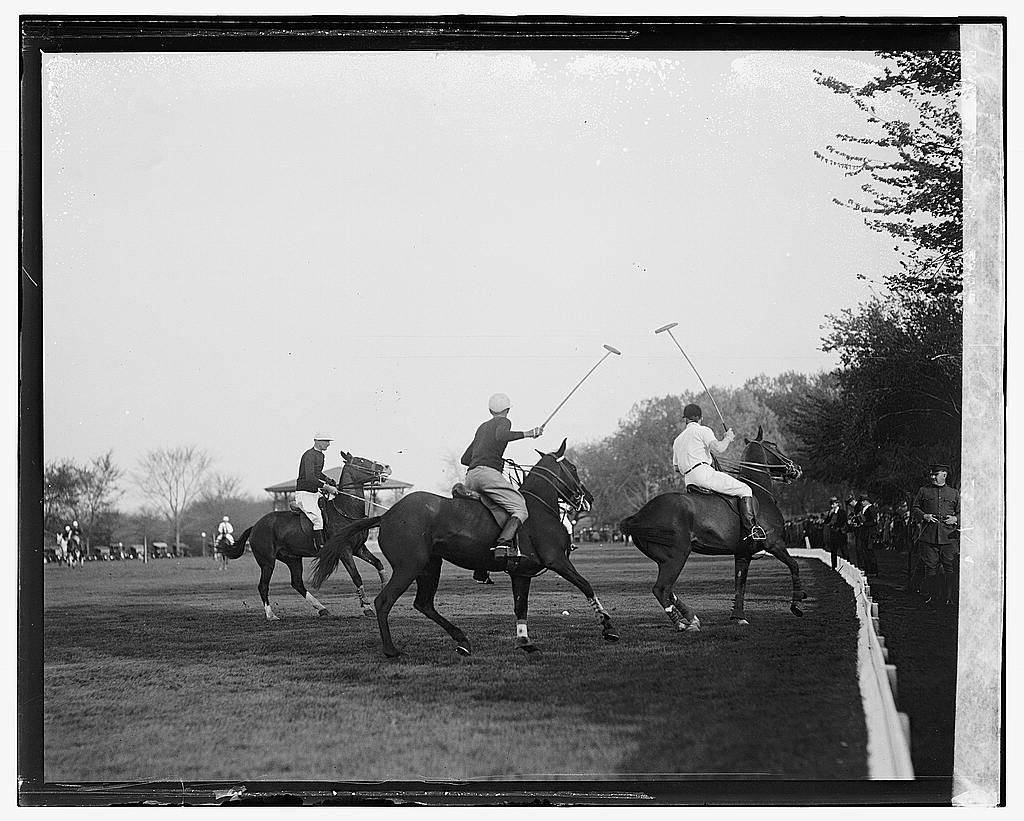 16 x 20 Gallery Wrapped Frame Art Canvas Print of Polo 1922 National Photo Co  50a