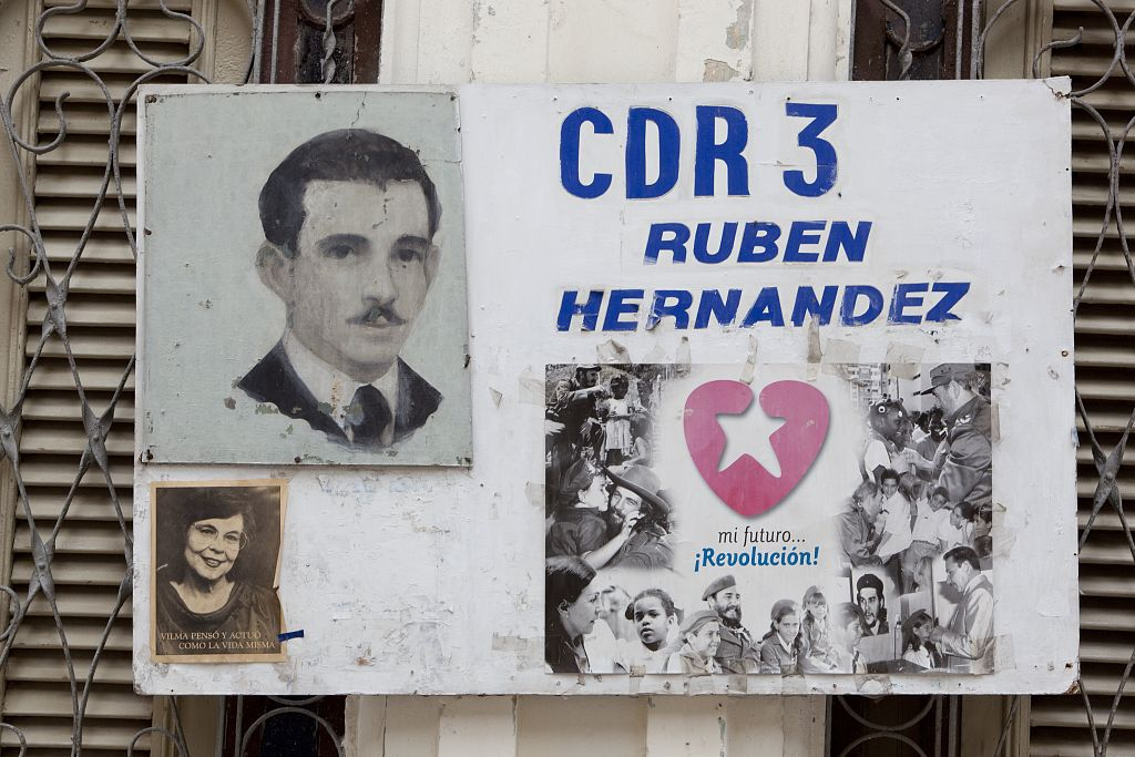 18 x 24 Photograph reprinted on fine art canvas  of CDR signs are everywhere in Havana Cuba r03 2010 January 10 by Highsmith, Carol M.,