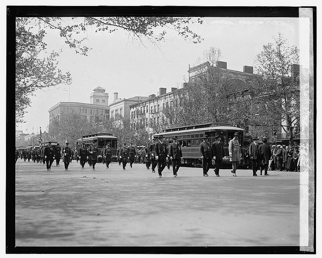 16 x 20 Gallery Wrapped Frame Art Canvas Print of Grant Memorial parade 1922 National Photo Co  31a