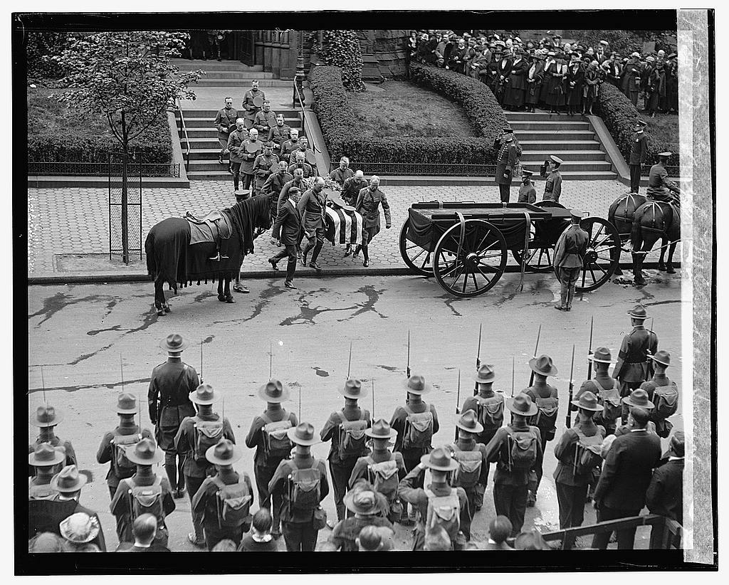 16 x 20 Gallery Wrapped Frame Art Canvas Print of Gen'l. McAndrews funeral, 5/3/22 1922 National Photo Co  76a