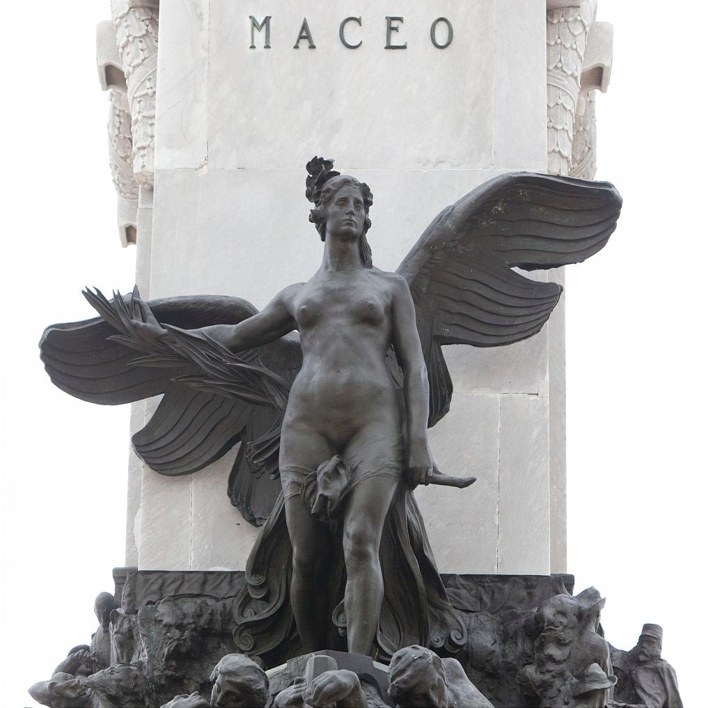 18 x 24 Photograph reprinted on fine art canvas  of Details on the statue honoring Maceo on the Malec—n in Havana Cuba r58 2010 January 13 by Highsmith, Carol M.,