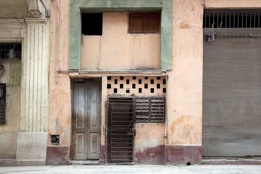 18 x 24 Photograph reprinted on fine art canvas  of Doorway in a residential neighborhood in Havana Cuba r72 2010 [January] by Highsmith, Carol M.,