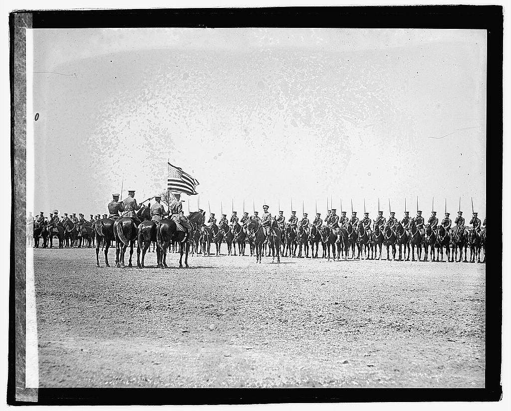 16 x 20 Reprinted Old Photo ofCavalry drill Fort Meyer, 5/25/22 1922 National Photo Co  04a