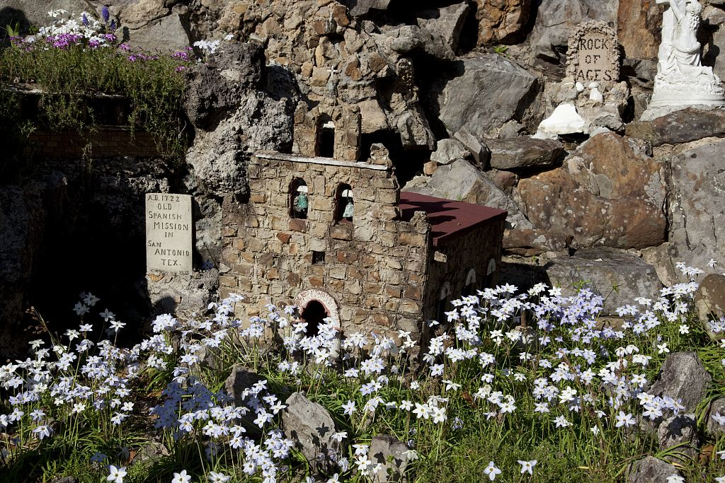 18 x 24 Photograph reprinted on fine art canvas  of Ave Maria Grotto Cullman Alabama r60 2010 March 30 by Highsmith, Carol M.,