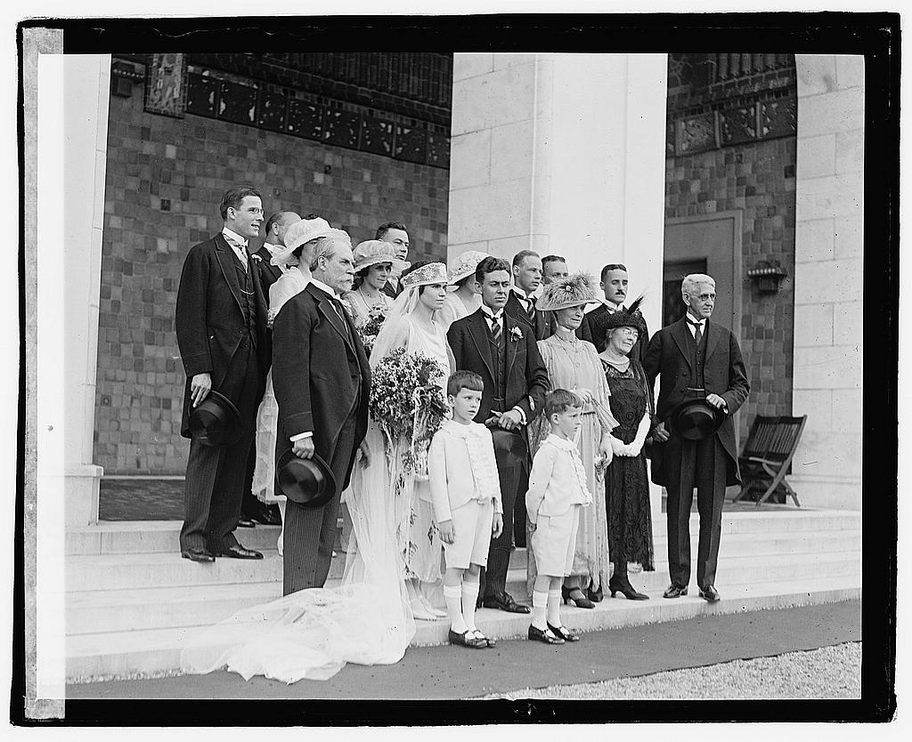 16 x 20 Reprinted Old Photo ofMrs. Hughes wedding, 6/10/22 1922 National Photo Co  25a