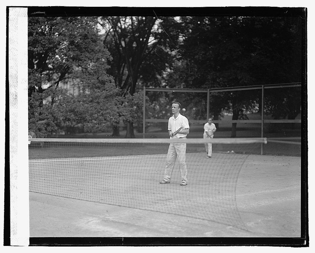 16 x 20 Reprinted Old Photo ofTheo. Roosevelt, Jr. tennis, 8/15/22 1922 National Photo Co  80a