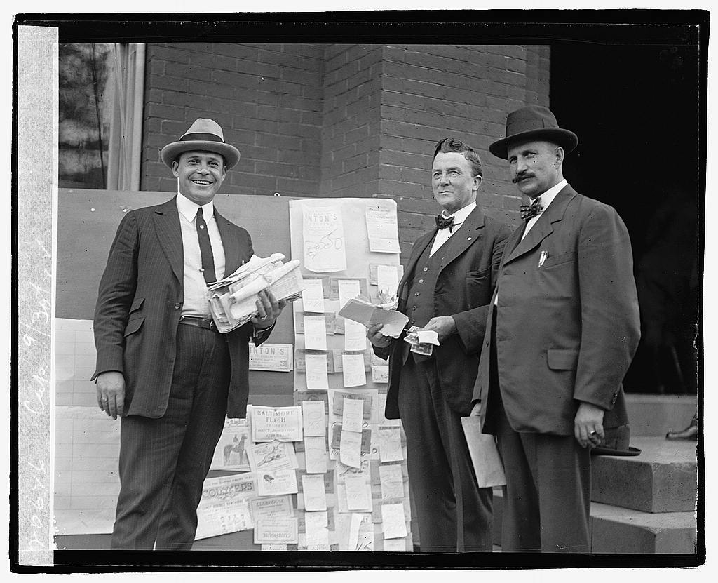 16 x 20 Reprinted Old Photo of Three unidentified men, 9/30/22 1922 National Photo Co  73a