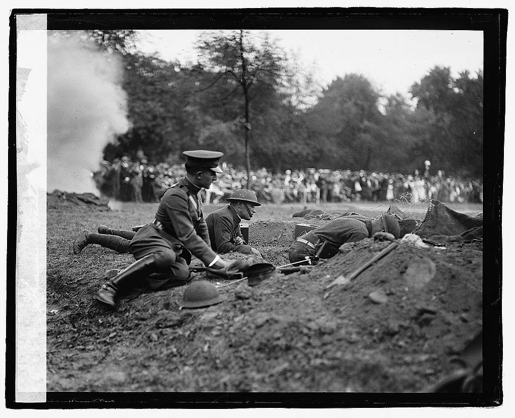 16 x 20 Reprinted Old Photo of Sham battle, 10/7/22 1922 National Photo Co  58a