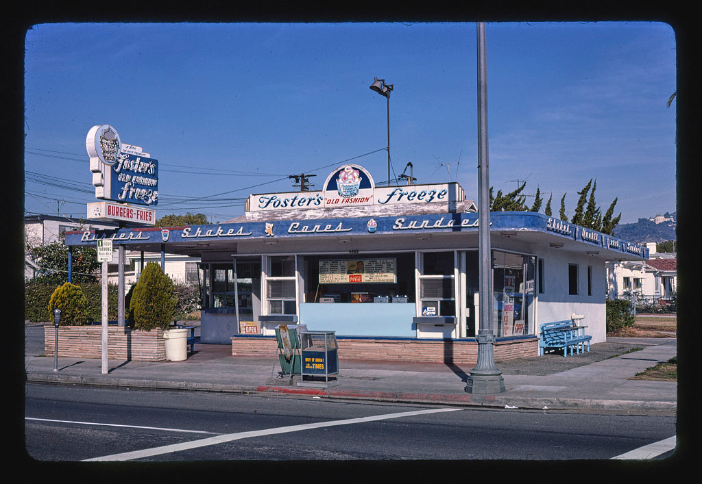8 x 12 Photo of Fosters Freeze, Los Angeles, California 1977 Margolies, John 74a