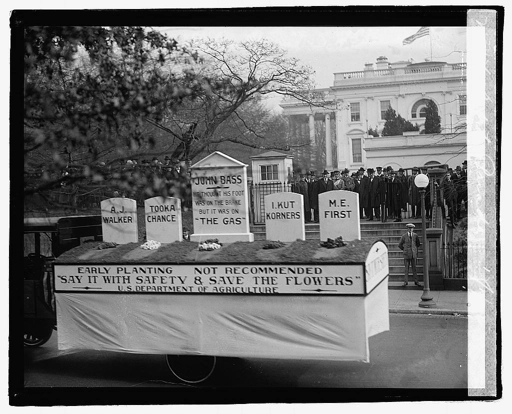 16 x 20 Reprinted Old Photo of Safety parade, 12/1/22 1922 National Photo Co  71a