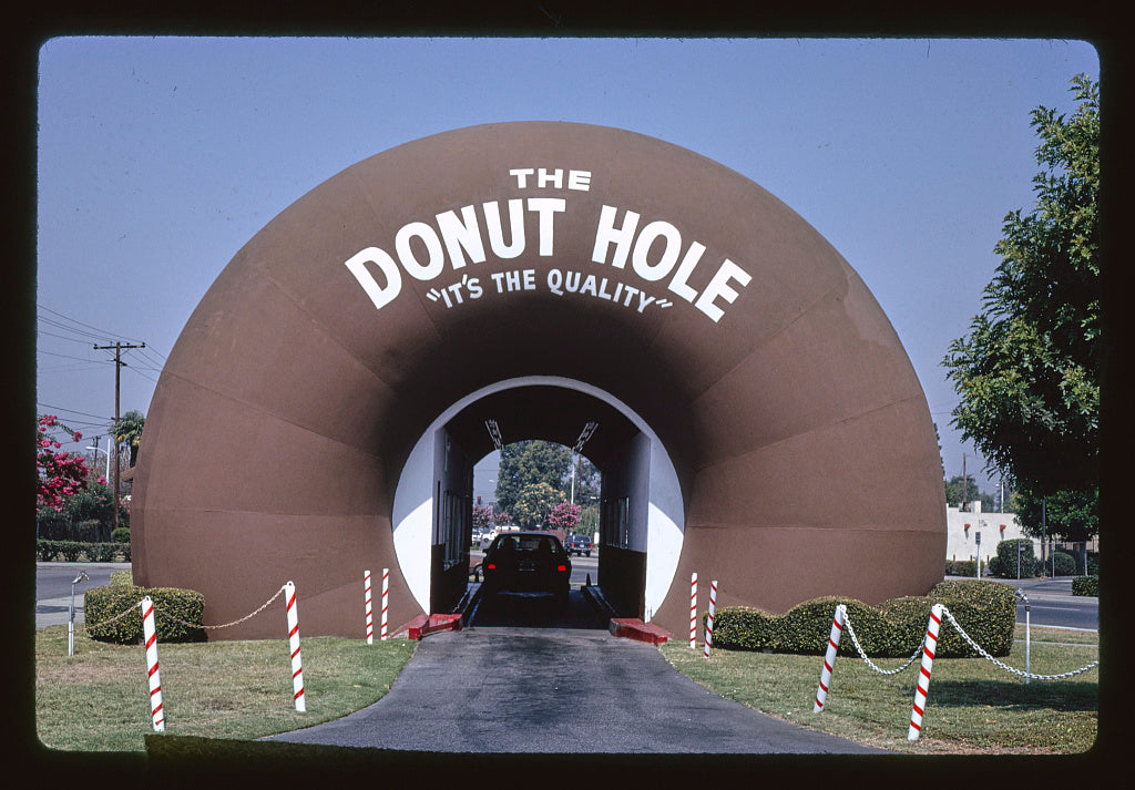 8 x 12 Photo of The Donut Hole, La Puente, California 1991 Margolies, John 20a