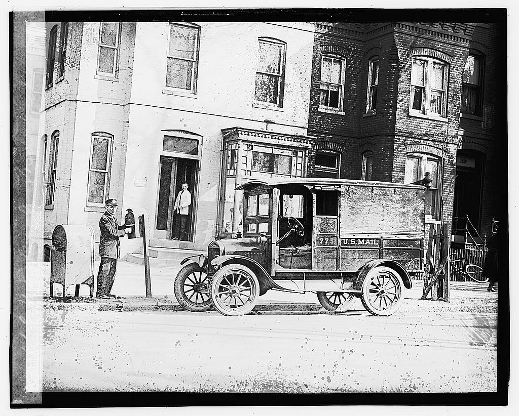 16 x 20 Gallery Wrapped Frame Art Canvas Print of U.S. Mail, Ford truck 1923 National Photo Co  29a