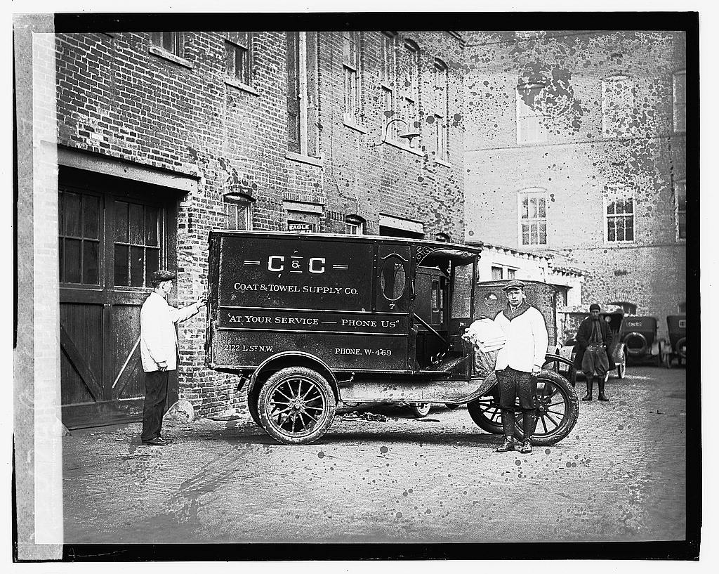 16 x 20 Gallery Wrapped Frame Art Canvas Print of C&C Coat & Towel Service, Ford 1923 National Photo Co  12a
