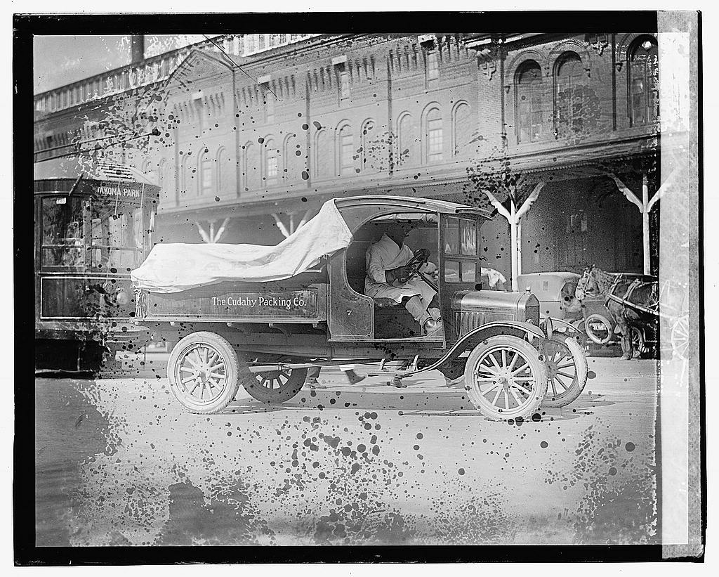 16 x 20 Gallery Wrapped Frame Art Canvas Print of Cudahy Packing Co., Ford truck 1923 National Photo Co  30a