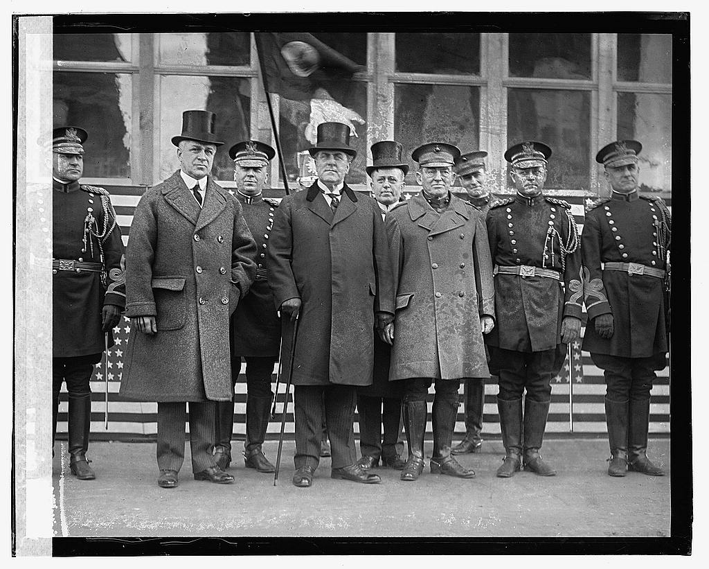 16 x 20 Gallery Wrapped Frame Art Canvas Print of Mayor Wm. E. Smoot, Gov. E. Lee Trinkle, & Gen'l Lejeune, 2/22/23 1923 National Photo Co  16a
