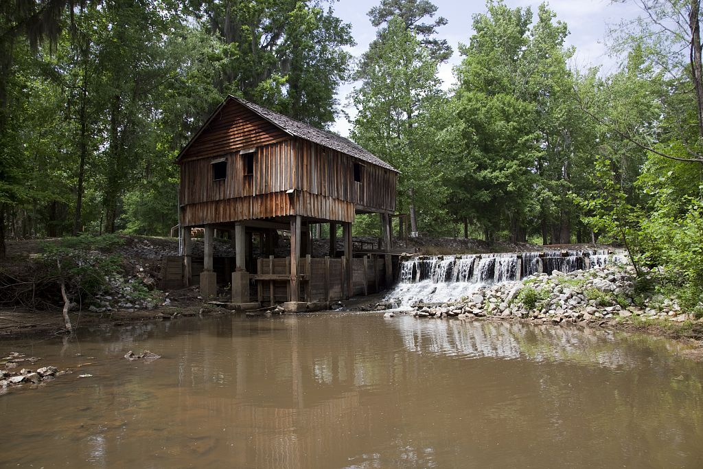 18 x 24 Photograph reprinted on fine art canvas  of Historic Rikard's Mill is a truly historic site near Beatrice Alabama r54 2010 May 2 by Highsmith, Carol M.
