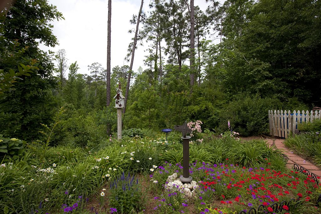 18 x 24 Photograph reprinted on fine art canvas  of The beautiful garden of Evelyn and Billy Bond in Monroeville Alabama r22 2010 May 12 by Highsmith, Carol M.