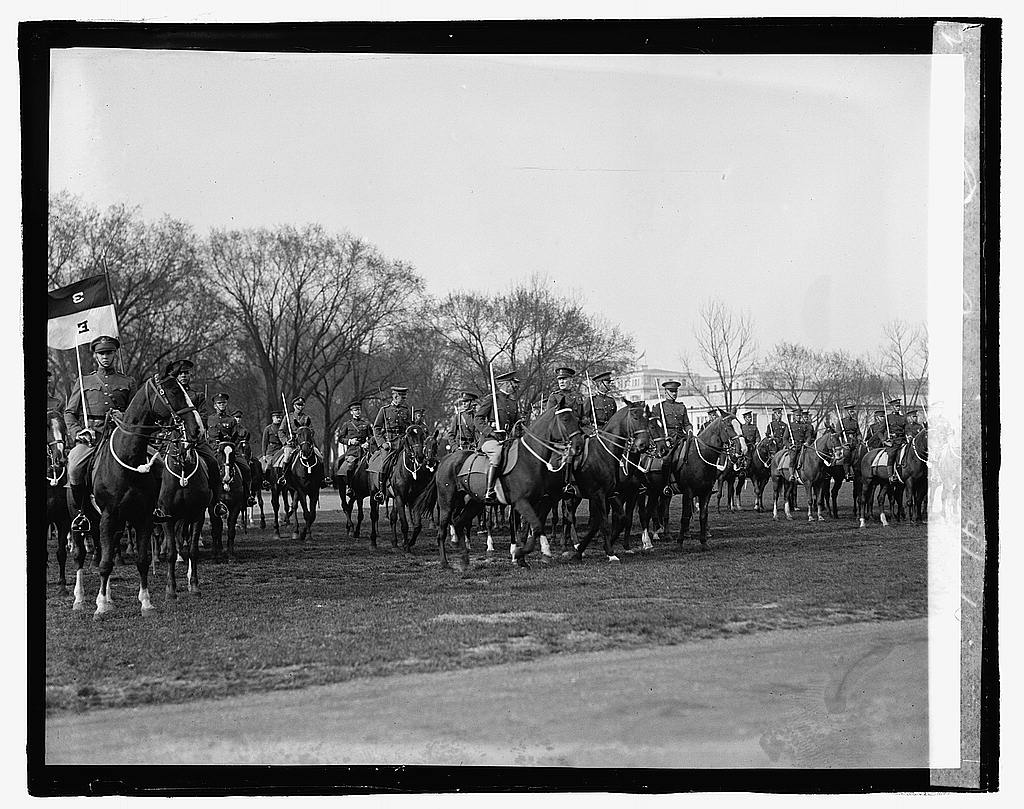 16 x 20 Reprinted Old Photo ofCavalry review, 4/12/23 1923 National Photo Co  30a