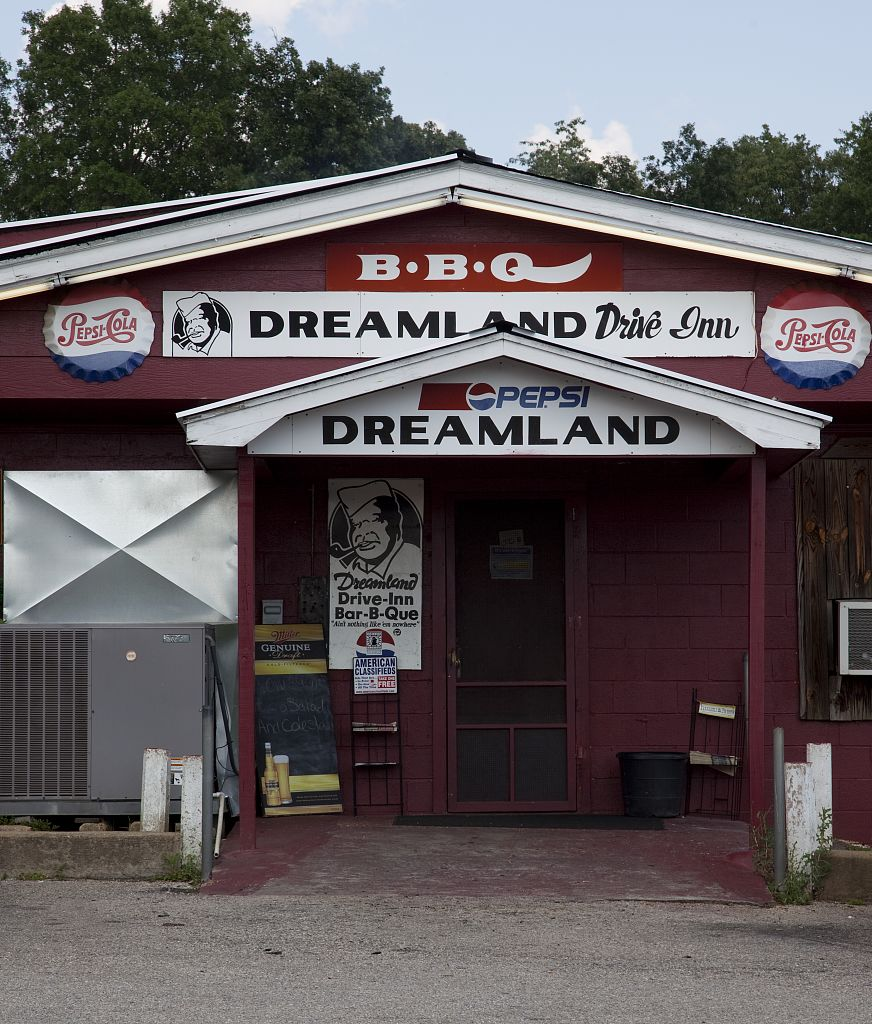 18 x 24 Photograph reprinted on fine art canvas  of Dreamland Bar-b-que restaurant Tuscaloosa Alabama r73 2010 May 23 by Highsmith, Carol M.