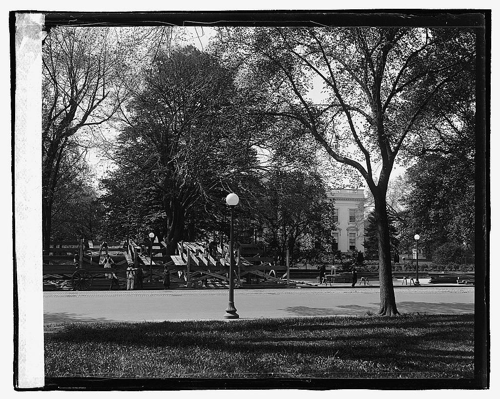 16 x 20 Reprinted Old Photo ofStands at White House, 5/1/23 1923 National Photo Co  10a